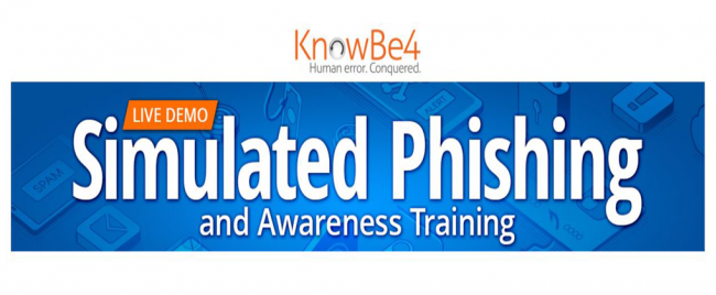 KnowBe4 [Live Demo] Ridiculously Easy Security Awareness Training and Phishing