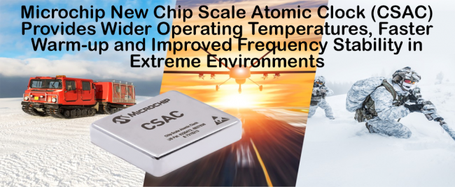 New Chip Scale Atomic Clock (CSAC) Provides Wider Operating Temperatures, Faster Warm-up and Improved Frequency Stability