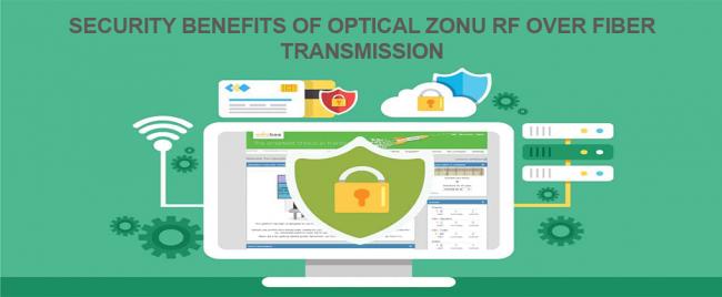 Security Benefits of Optical Zonu RF Over Fiber Transmission