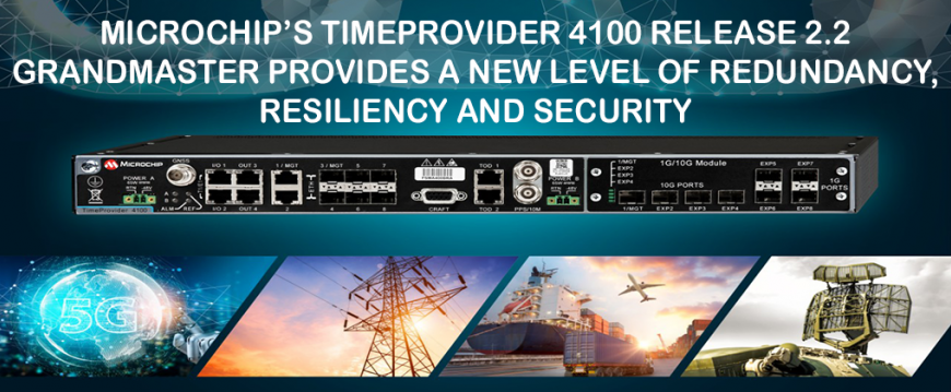 Microchip's TimeProvider 4100 Release 2.2 Grandmaster Provides a New Level of Redundancy, Resiliency and Security